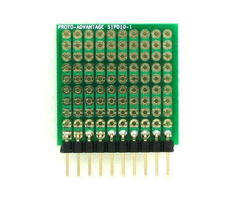 DIP IC (300 mil) to SIP Adapter - 10 pin 1