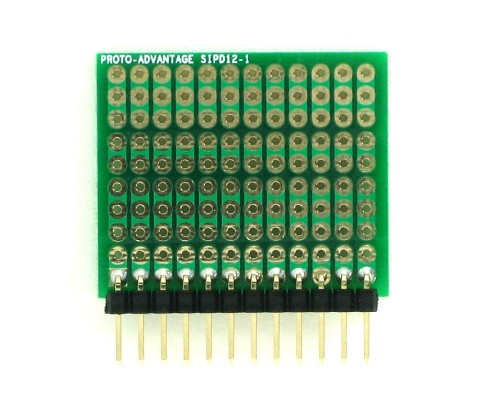 DIP IC (300 mil) to SIP Adapter - 12 pin 1