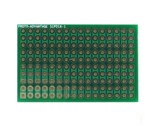 DIP IC (300 mil) to SIP Adapter - 16 pin 0