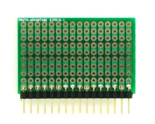 DIP IC (300 mil) to SIP Adapter - 16 pin 1