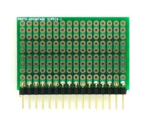 DIP IC (300 mil) to SIP Adapter - 16 pin 1