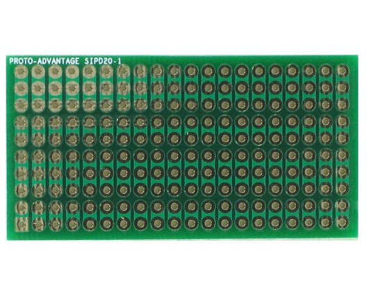 DIP IC (300 mil) to SIP Adapter - 20 pin 0