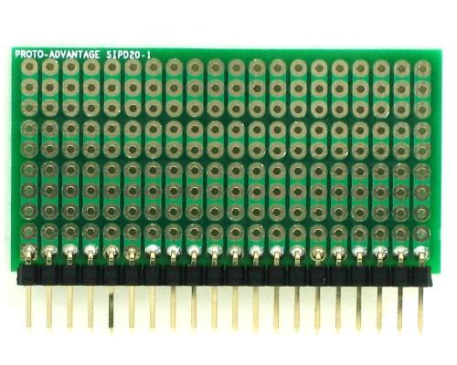 DIP IC (300 mil) to SIP Adapter - 20 pin 1