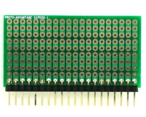 DIP IC (300 mil) to SIP Adapter - 20 pin 1