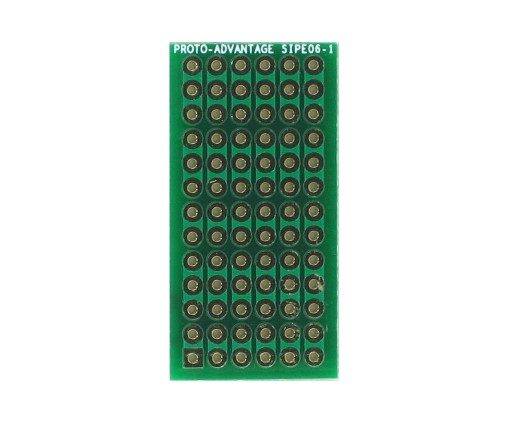 DIP IC (300 mil and 600 mil) to SIP Adapter -  6 pin 0