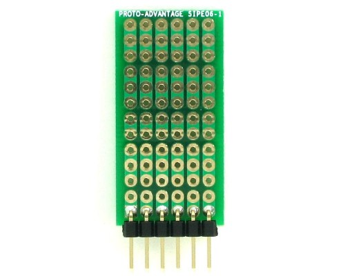 DIP IC (300 mil and 600 mil) to SIP Adapter -  6 pin 1