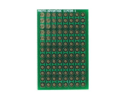 DIP IC (300 mil and 600 mil) to SIP Adapter -  8 pin 0