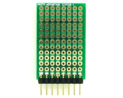 DIP IC (300 mil and 600 mil) to SIP Adapter -  8 pin 1