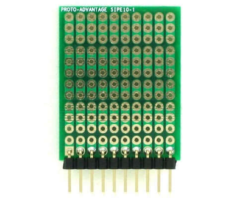 DIP IC (300 mil and 600 mil) to SIP Adapter - 10 pin 1