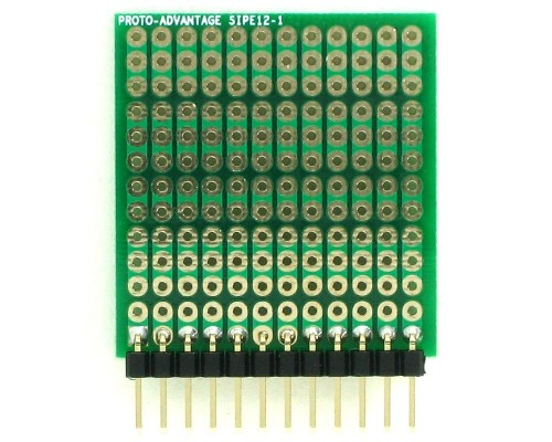 DIP IC (300 mil and 600 mil) to SIP Adapter - 12 pin 1