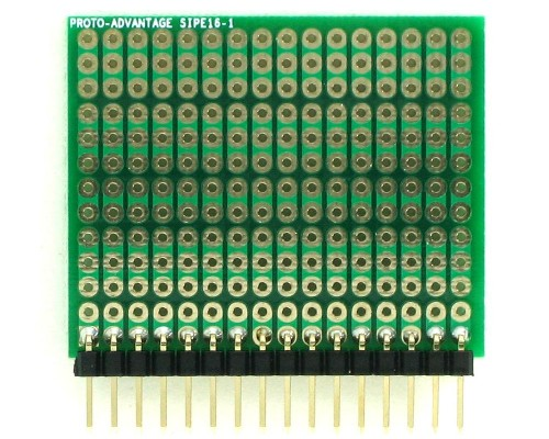 DIP IC (300 mil and 600 mil) to SIP Adapter - 16 pin 1