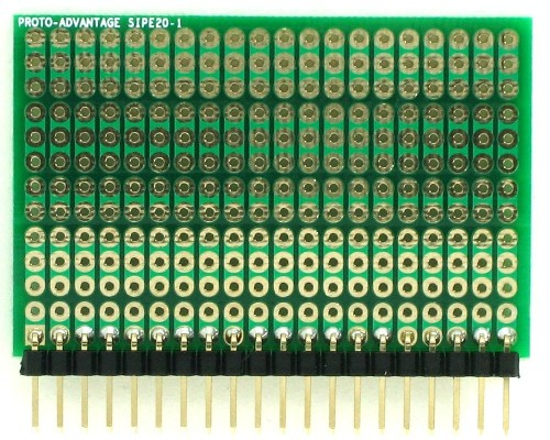 DIP IC (300 mil and 600 mil) to SIP Adapter - 20 pin 1