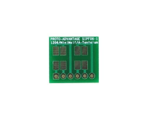 1206, 1210, Mini-Melf, A-Tantalum, LED to SIP Adapter -  6 pin 0