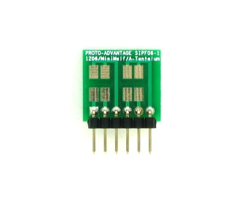 1206, 1210, Mini-Melf, A-Tantalum, LED to SIP Adapter -  6 pin 1