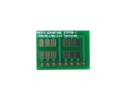 1206, 1210, Mini-Melf, A-Tantalum, LED to SIP Adapter -  8 pin 0