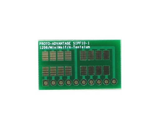1206, 1210, Mini-Melf, A-Tantalum, LED to SIP Adapter - 10 pin 0