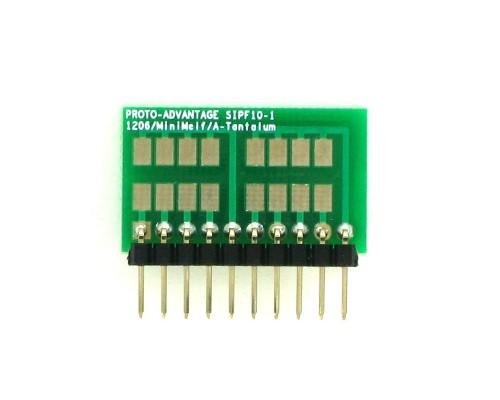 1206, 1210, Mini-Melf, A-Tantalum, LED to SIP Adapter - 10 pin 1