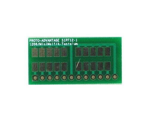 1206, 1210, Mini-Melf, A-Tantalum, LED to SIP Adapter - 12 pin 0