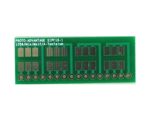 1206, 1210, Mini-Melf, A-Tantalum, LED to SIP Adapter - 16 pin 0