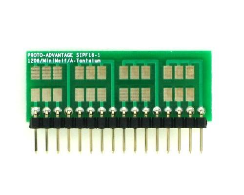 1206, 1210, Mini-Melf, A-Tantalum, LED to SIP Adapter - 16 pin 1