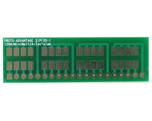 1206, 1210, Mini-Melf, A-Tantalum, LED to SIP Adapter - 20 pin 0