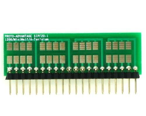 1206, 1210, Mini-Melf, A-Tantalum, LED to SIP Adapter - 20 pin 1