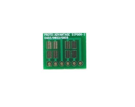 0402, 0603, 0805, 1206, 1210 to SIP Adapter -  6 pin 0