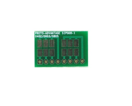 0402, 0603, 0805, 1206, 1210 to SIP Adapter -  8 pin 0