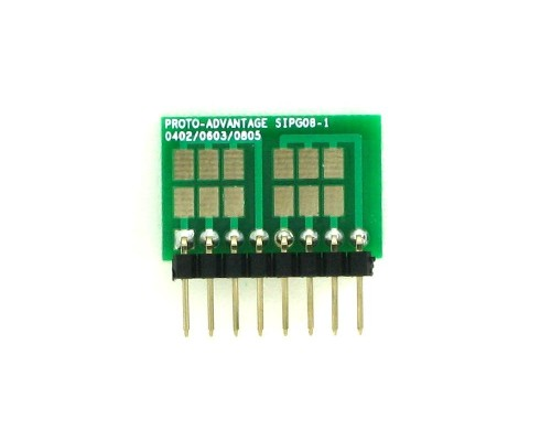 0402, 0603, 0805, 1206, 1210 to SIP Adapter -  8 pin 1