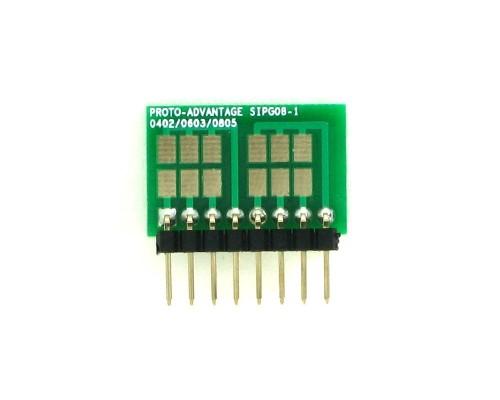 0402, 0603, 0805, 1206, 1210 to SIP Adapter -  8 pin 1