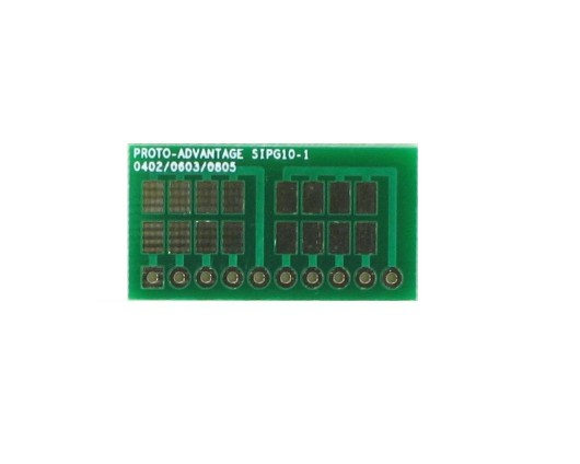 0402, 0603, 0805, 1206, 1210 to SIP Adapter - 10 pin 0