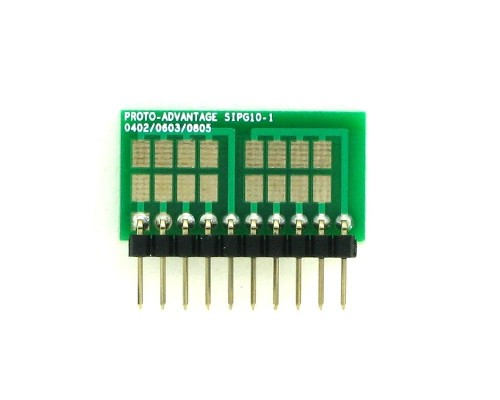 0402, 0603, 0805, 1206, 1210 to SIP Adapter - 10 pin 1