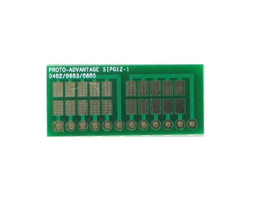0402, 0603, 0805, 1206, 1210 to SIP Adapter - 12 pin 0