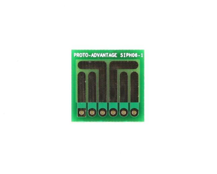 SOT-23, 3 mm, 4 mm to SIP Adapter High Density Circuits -  6 pin 0