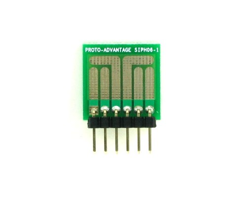 SOT-23, 3 mm, 4 mm to SIP Adapter High Density Circuits -  6 pin 1