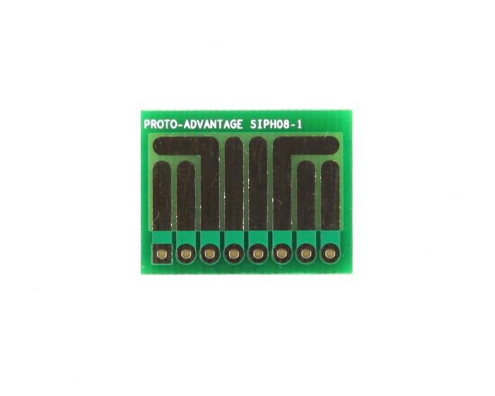 SOT-23, 3 mm, 4 mm to SIP Adapter High Density Circuits -  8 pin 0