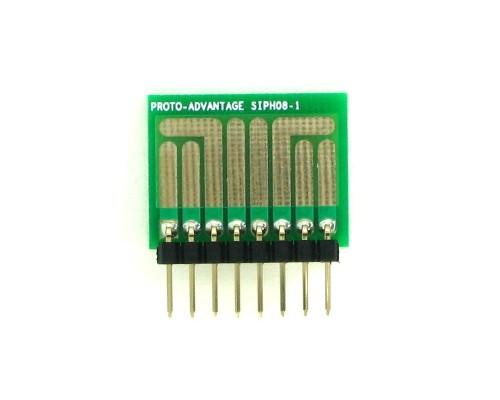 SOT-23, 3 mm, 4 mm to SIP Adapter High Density Circuits -  8 pin 1