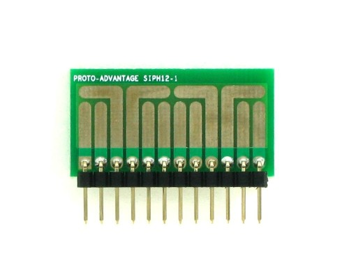 SOT-23, 3 mm, 4 mm to SIP Adapter High Density Circuits - 12  1