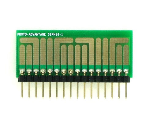 SOT-23, 3 mm, 4 mm to SIP Adapter High Density Circuits - 16  1