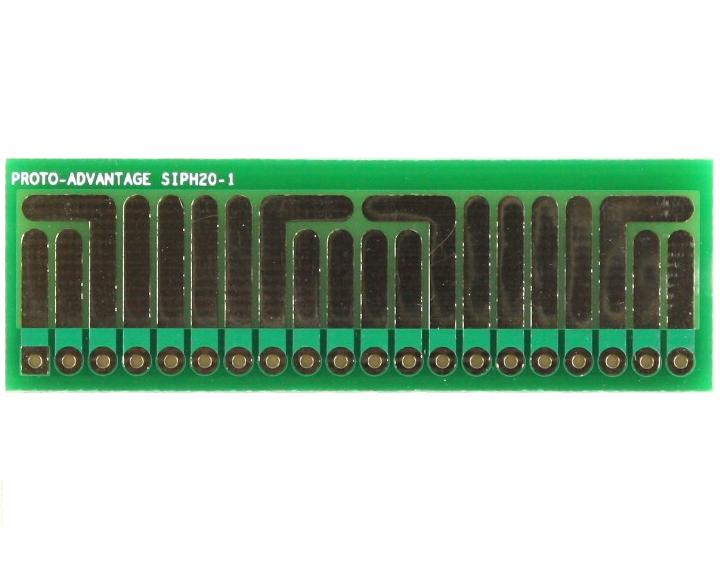 SOT-23, 3 mm, 4 mm to SIP Adapter High Density Circuits - 20  0