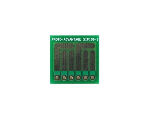 SOT-23, 3 mm, 4 mm to SIP Adapter Complex Circuits -  6 pin 0