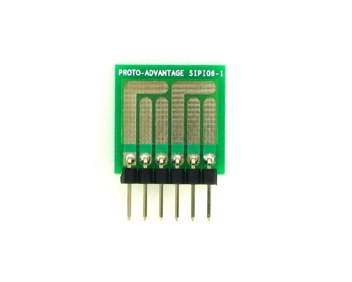 SOT-23, 3 mm, 4 mm to SIP Adapter Complex Circuits -  6 pin 1