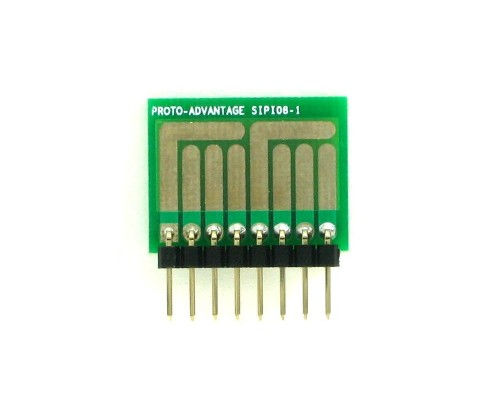 SOT-23, 3 mm, 4 mm to SIP Adapter Complex Circuits -  8 pin 1