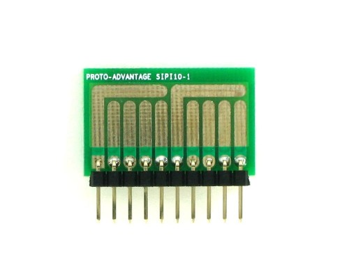 SOT-23, 3 mm, 4 mm to SIP Adapter Complex Circuits - 10 pin 1