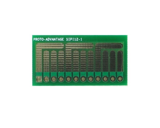 SOT-23, 3 mm, 4 mm to SIP Adapter Complex Circuits - 12 pin 0