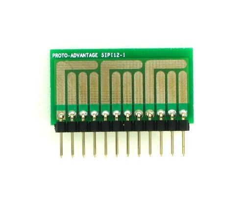 SOT-23, 3 mm, 4 mm to SIP Adapter Complex Circuits - 12 pin 1