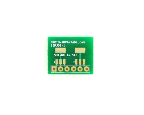 SOT-89-3 to SIP SMT Adapter Double 0