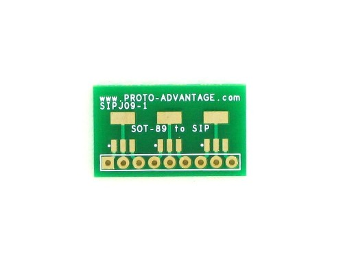 SOT-89-3 to SIP SMT Adapter Triple 0
