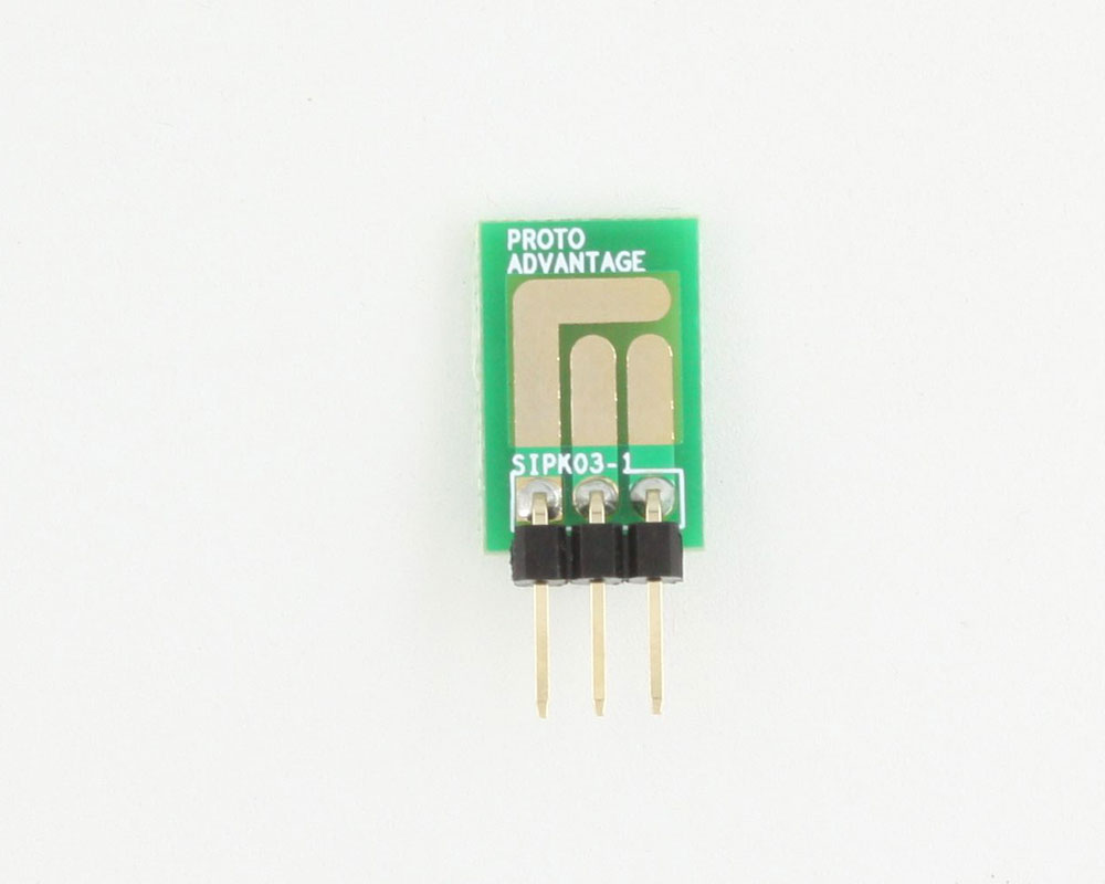 SOT-23, 3mm and 4mm inductor adapter -  3 pin 1
