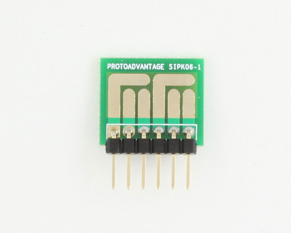 SOT-23, 3mm and 4mm inductor adapter -  6 pin 1